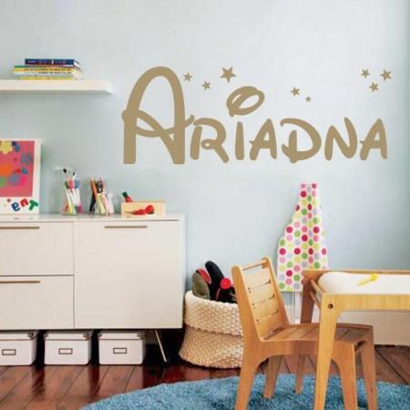 Vinilos Infantiles Disney.Vinilos Decorativos Infantiles Con Nombre Ariadna En Tipo Letra Disney