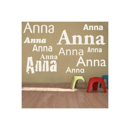 vinilos decorativos con nombre Anna