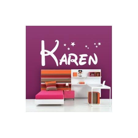 Vinilos decorativos nombres Karen