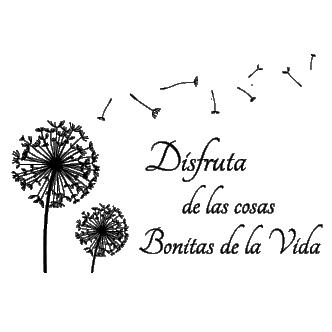 Diente De León Con Frase Dqcolores