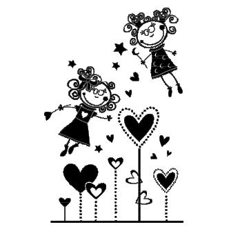 Hadas Vinilos Decorativos Infantiles.Vinilos Decorativos Infantiles De Hadas Con Corazones Dqcolor Vinilos